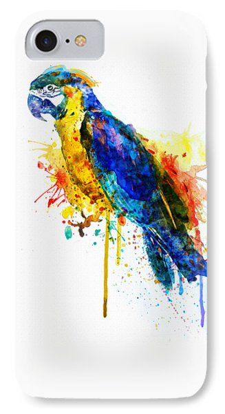 Parrot Watercolor  IPhone 7 Case by Marian Voicu