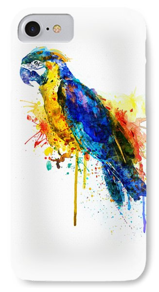 Parrot Watercolor  IPhone Case by Marian Voicu