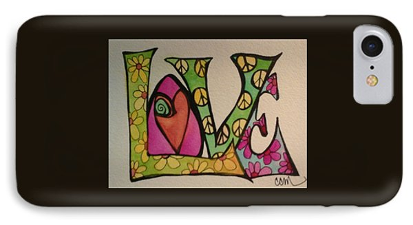 Peace And Love IPhone Case by Claudia Cole Meek