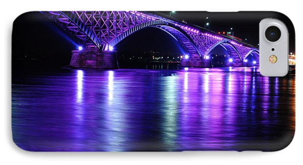Peace Bridge Supporting Breast Cancer Awareness IPhone Case by Michael Frank Jr