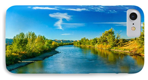 Peaceful Payette River IPhone Case by Robert Bales
