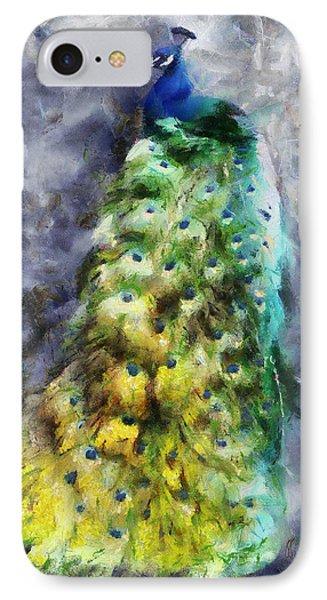 Peacock Portrait IPhone Case by Jai Johnson