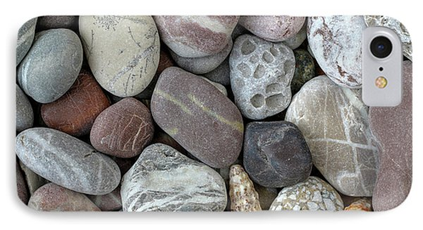 Pebbles In Earth Colors - Stone Pattern IPhone Case by Michal Boubin