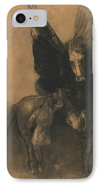 Pegasus And Bellerophon IPhone Case by Odilon Redon