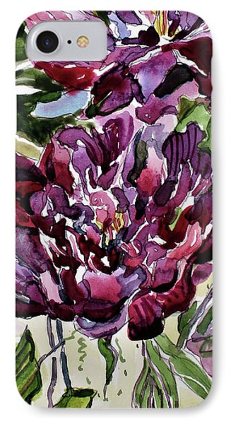 IPhone Case featuring the painting Peonies by Mindy Newman