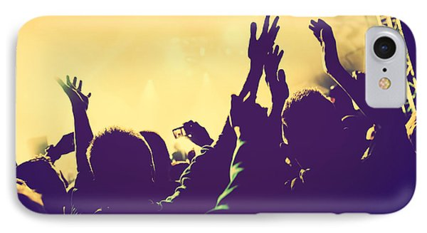 People With Hands Up In Night Club IPhone Case