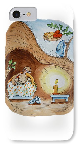 Peter Rabbit And His Dream IPhone 7 Case by Irina Sztukowski