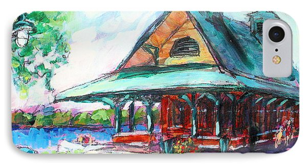 IPhone Case featuring the painting Pewaukee Depot by Les Leffingwell