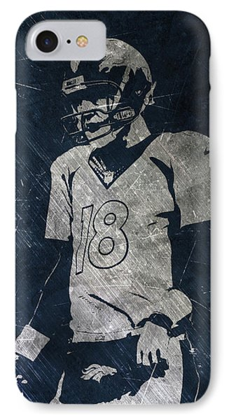 Peyton Manning Broncos Phone Case by Joe Hamilton