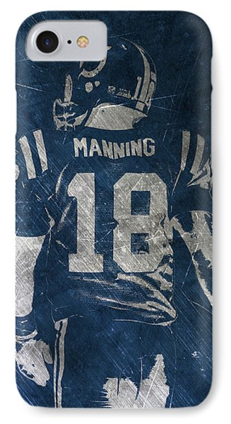 Peyton Manning Colts 2 IPhone Case by Joe Hamilton