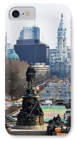 Philadelphia - The Parkway IPhone Case by Cindy Manero