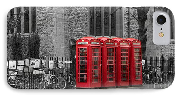 Phonebox In Red IPhone Case by David Warrington