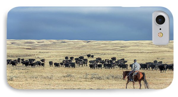 Driving The Herd IPhone Case by Todd Klassy
