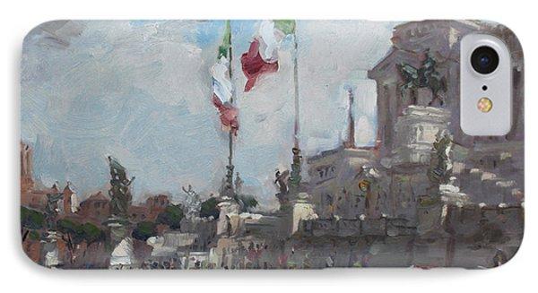 Piazza Venezia Rome IPhone Case