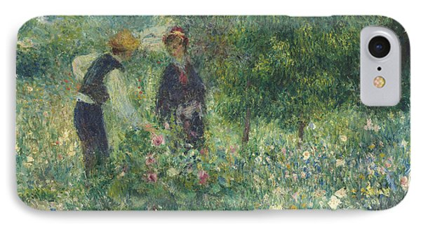 Picking Flowers IPhone Case by Pierre Auguste Renoir