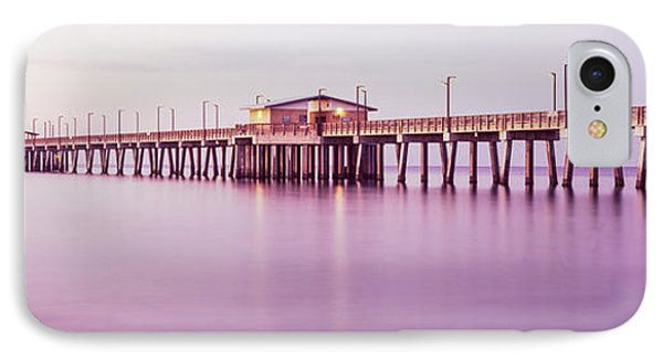 Pier In The Sea, Gulf State Park Pier IPhone Case by Panoramic Images