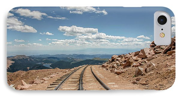Pikes Peak Cog Railway Track At 14,110 Feet IPhone Case by Peter Ciro