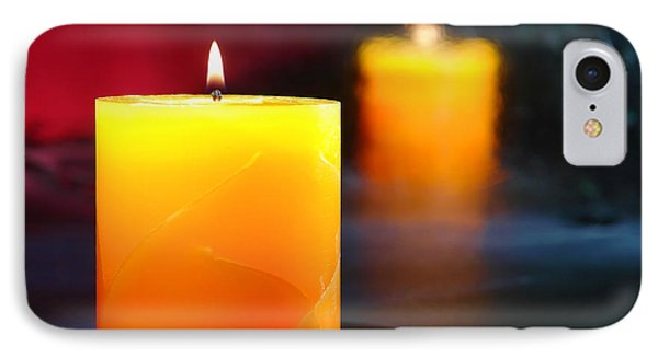 Pillar Candle IPhone Case by Olivier Le Queinec