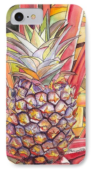 Pineapple IPhone Case by Marionette Taboniar