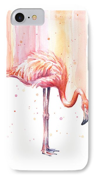 Pink Flamingo - Facing Right IPhone Case