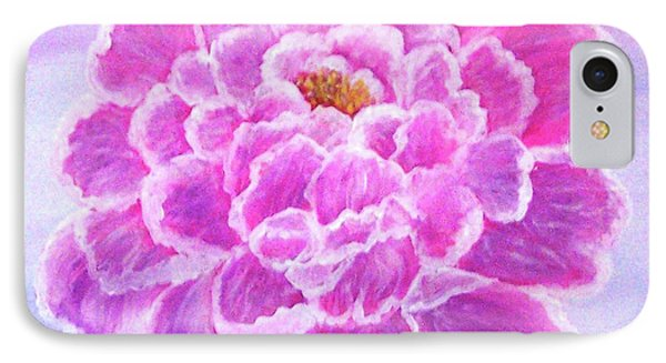 IPhone Case featuring the painting Pink Peony by Sonya Nancy Capling-Bacle