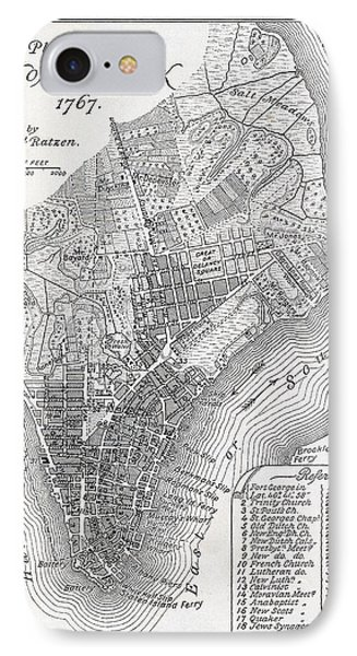 Plan Of The City Of New York Phone Case by American School