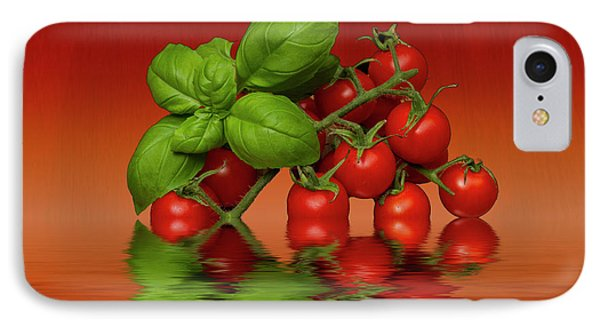 IPhone Case featuring the photograph Plum Cherry Tomatoes Basil by David French