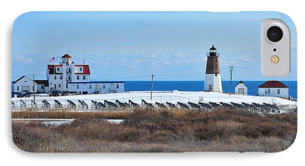 Point Judith Light Phone Case by Catherine Reusch Daley