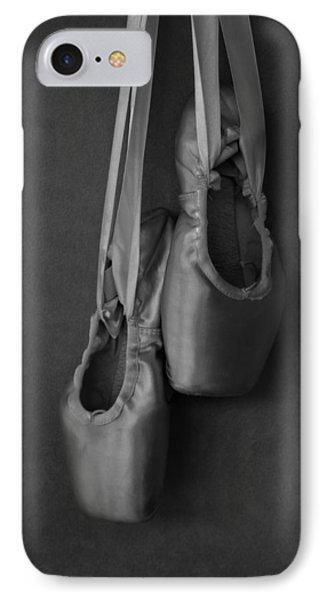 IPhone Case featuring the photograph Pointe Shoes Bw by Laura Fasulo