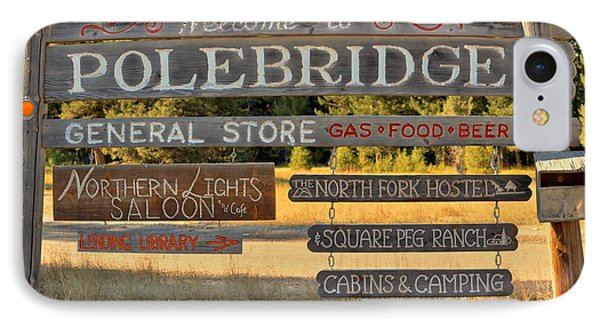 Polebridge Business Directory IPhone Case by Adam Jewell