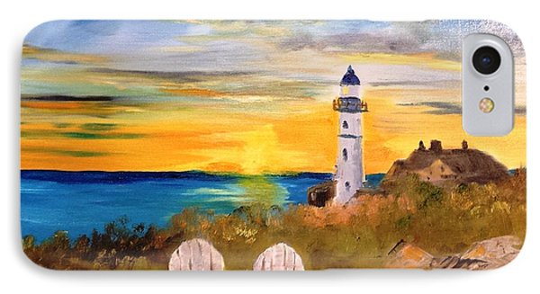 Portland Head Lighthouse IPhone Case by Larry Hamilton
