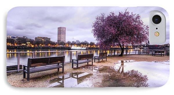 Portland Oregon Waterfront Tree Reflection IPhone Case