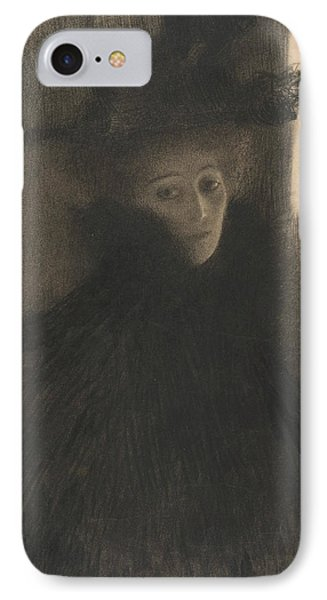 Portrait Of A Lady With Cape And Hat  IPhone Case