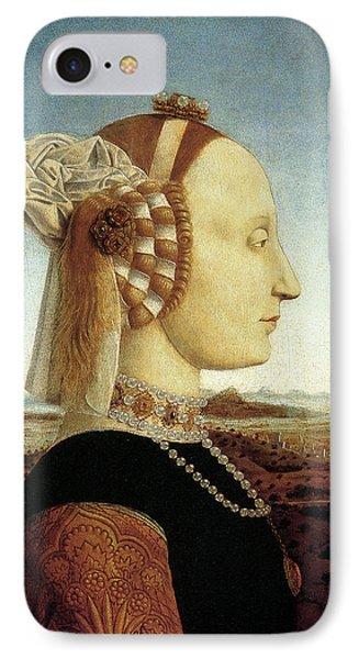Portrait Of Battista Sforza IPhone Case by Piero della Francesca