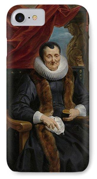 Portrait Of Magdalena De Cuyper IPhone Case by Celestial Images