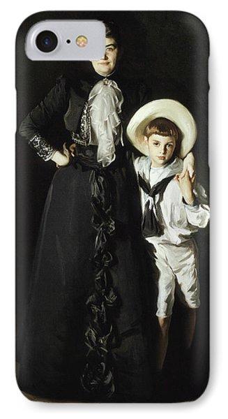 Portrait Of Mrs Edward L Davis And Her Son Livingston Davis IPhone Case