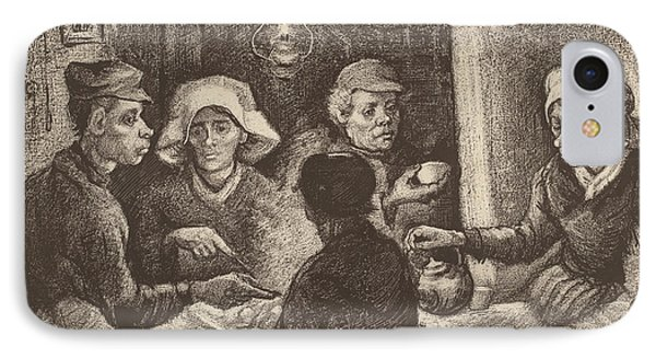 Potato Eaters, 1885 IPhone 7 Case by Vincent Van Gogh