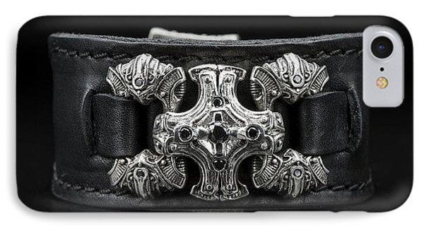 Power Chord Mens Leather Cuff Bracelet IPhone Case by Williamhenry Williamhenry