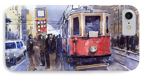 Prague Old Tram 03 IPhone Case by Yuriy  Shevchuk