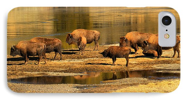 IPhone Case featuring the photograph Gathering To Cross The Yellowstone River by Adam Jewell