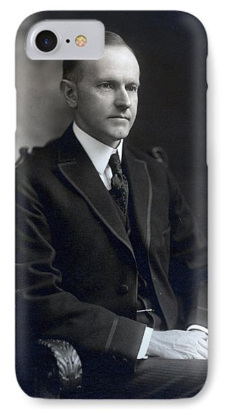 President Calvin Coolidge Phone Case by International  Images