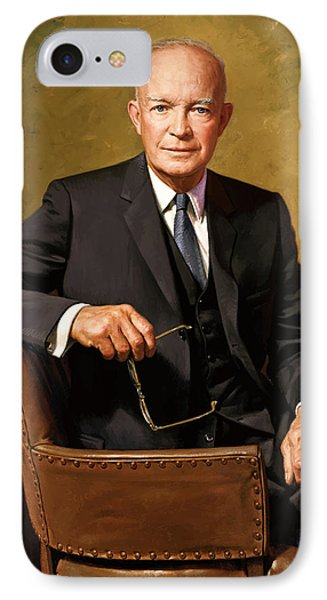 President Dwight Eisenhower Phone Case by War Is Hell Store