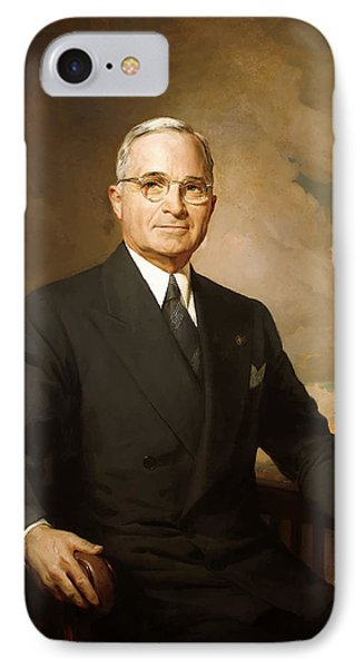 President Harry Truman IPhone Case by War Is Hell Store