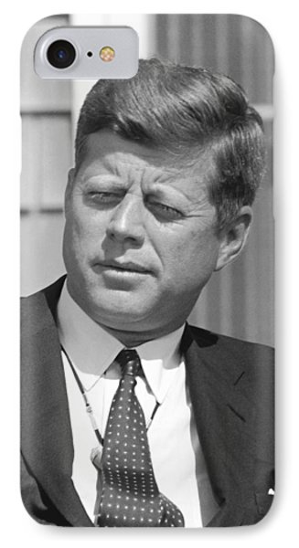President John Kennedy IPhone Case by War Is Hell Store