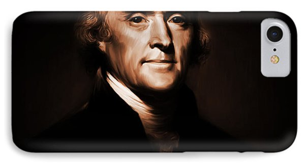 President Thomas Jefferson IPhone Case by Gull G