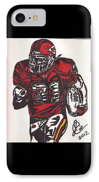 IPhone Case featuring the drawing Priest Holmes 2 by Jeremiah Colley