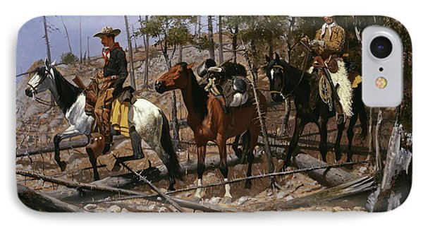 Prospecting For Cattle Range  IPhone Case by Frederic Remington