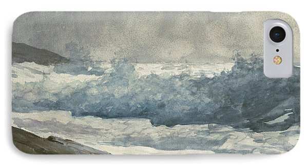 Prouts Neck, Breakers IPhone Case by Winslow Homer