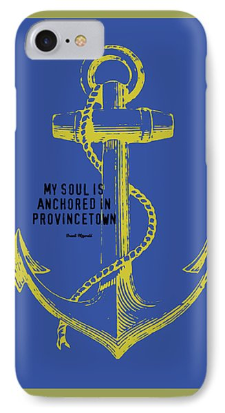 Provincetown Anchor IPhone Case by Brandi Fitzgerald