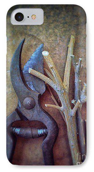 Pruning Scissors IPhone Case by Carlos Caetano